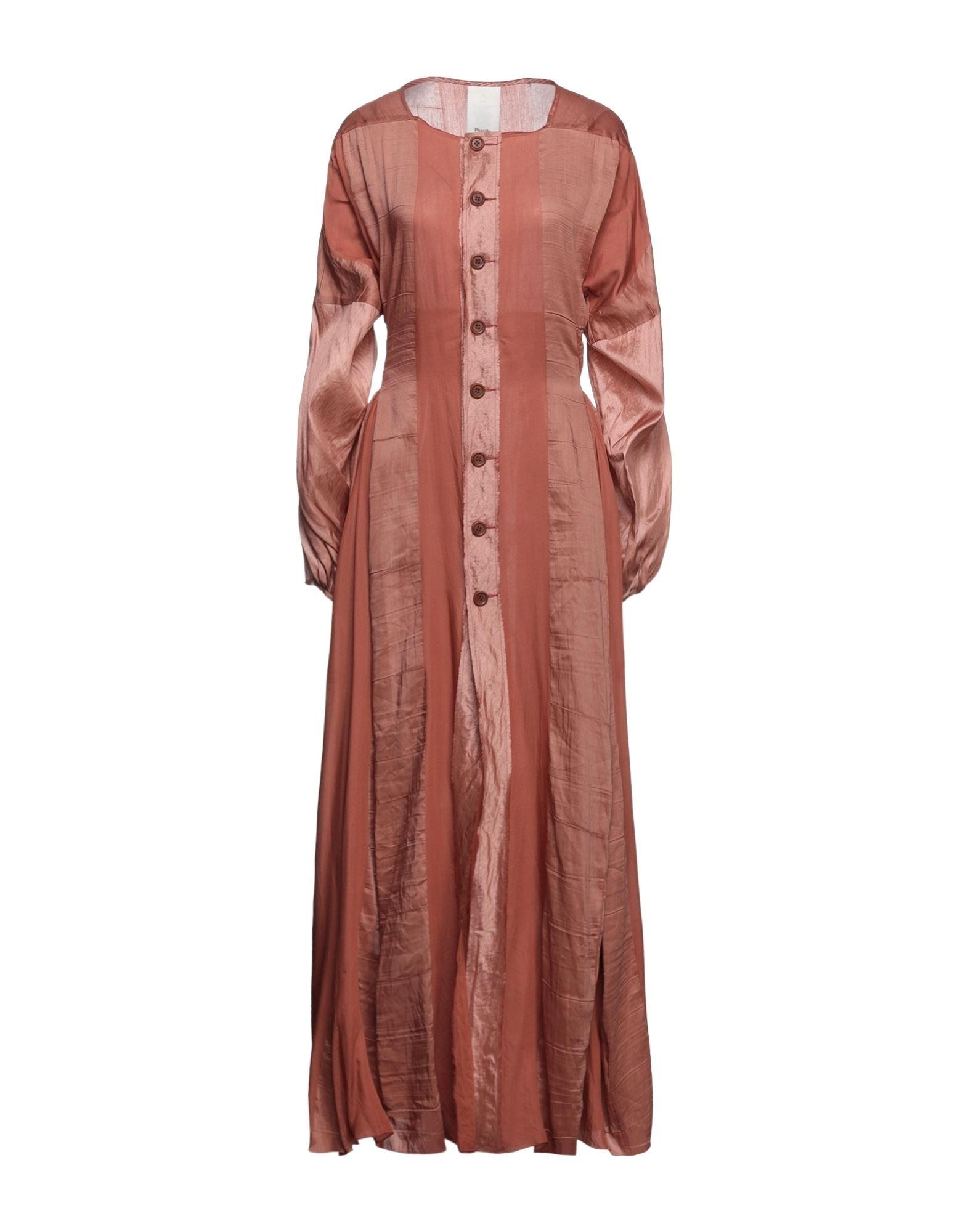 Phaédo Studios Long Dresses In Rust