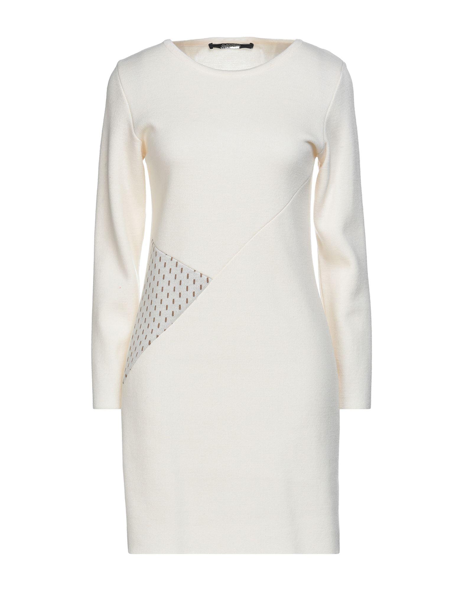 Albarena Short Dresses In Ivory