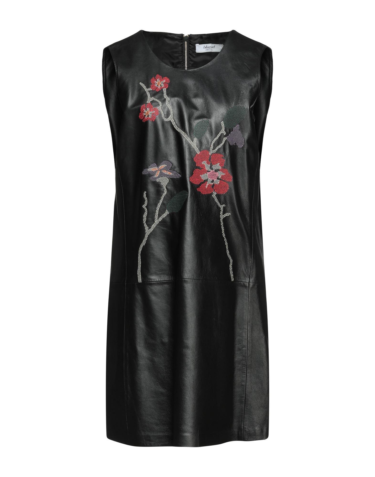 《セール開催中》BLUGIRL BLUMARINE レディース ミニワンピース&ドレス ブラック 36 革