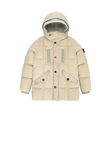 STONE ISLAND JUNIOR 40233 GARMENT DYED CRINKLE REPS NY DOWN 캐주얼 재킷 남성 샌드 KRW 895685
