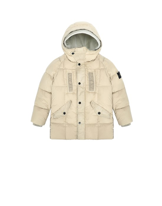 Jacket Man 40233 GARMENT DYED CRINKLE REPS NY DOWN Front STONE ISLAND KIDS