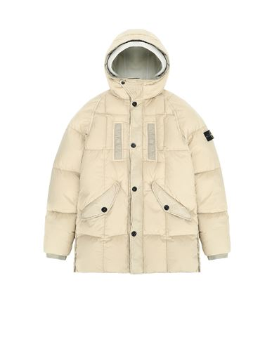 STONE ISLAND TEEN 40233 GARMENT DYED CRINKLE REPS NY DOWN Jacket Man Sand USD 910