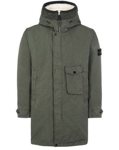STONE ISLAND 70749 DAVID-TC_INTERNO STACCABILE Mid-length jacket Man Musk Green USD 2609
