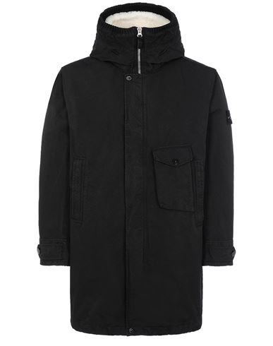 STONE ISLAND 70749 DAVID-TC_INTERNO STACCABILE Mid-length jacket Man Black EUR 1385