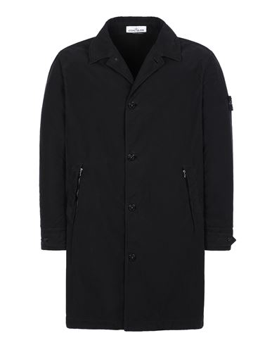 STONE ISLAND 70531 DAVID LIGHT-TC CON MICROPILE Manteau court Homme Noir EUR 775