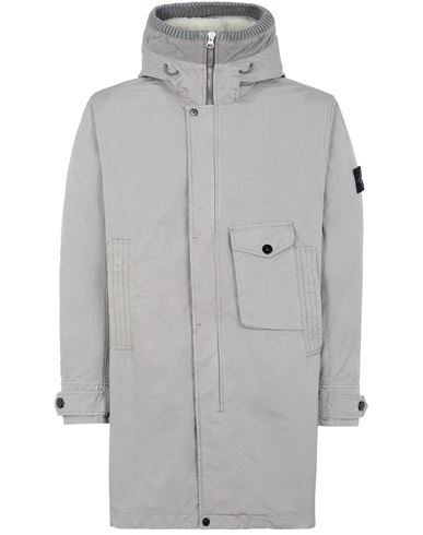 STONE ISLAND 70749 DAVID-TC_INTERNO STACCABILE Mid-length jacket Man Mud EUR 1801