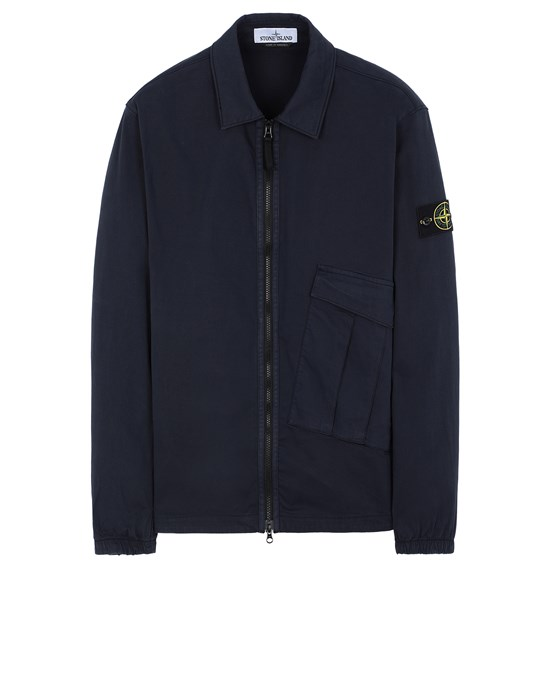STONE ISLAND 10310 OVER SHIRT Man Marine Blue