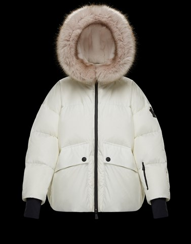 TILLIER White Grenoble Down Jackets and Gilets Woman