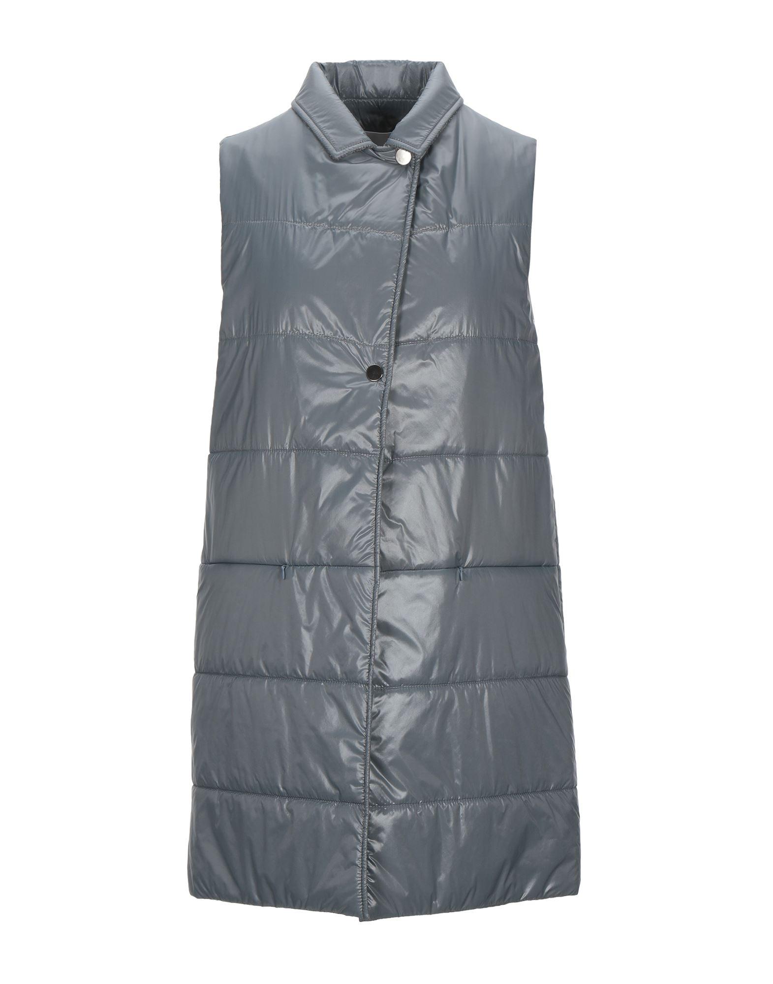 《セール開催中》FABIANA FILIPPI レディース 合成繊維中綿アウター グレー 36 ナイロン 100%