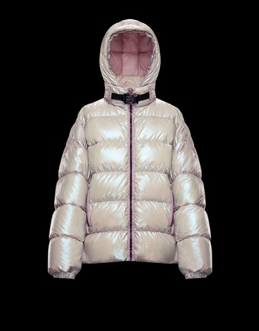 CHAMOISEE Pale pink Short Down Jackets Woman