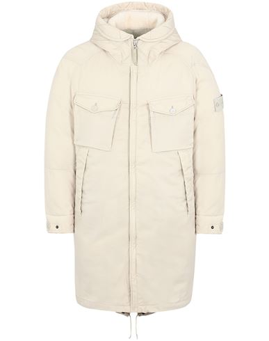 STONE ISLAND 716F2 STRETCH WOOL NYLON-TC DOWN_GHOST PIECE Mid-length jacket Man Beige EUR 1599