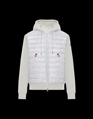 HOODED JUMPER White Category ZIP-UP SWEATSHIRTS Man