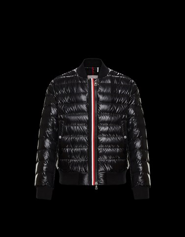 PEROUGES Black Down Jackets Man