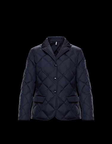 TIANOA Dark blue Short Down Jackets Woman