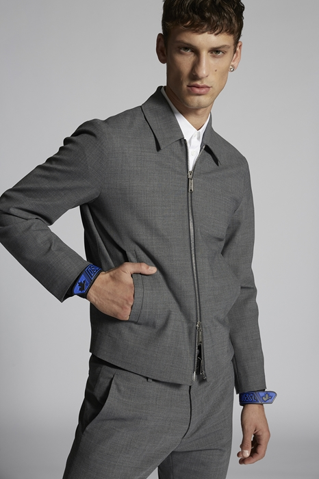 DSQUARED2 Homme Caban Gris Taille 52 53% Polyester 43% Laine vierge 4% Élasthanne