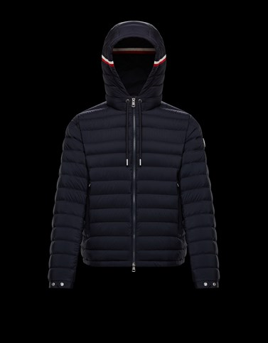 EUS Dark blue Down Jackets Man