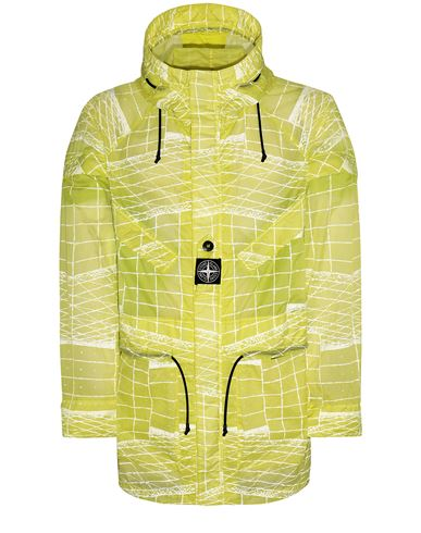 STONE ISLAND 42999 REFLECTIVE GRID ON LAMY-TC  Parka Man Pistachio Green EUR 1185