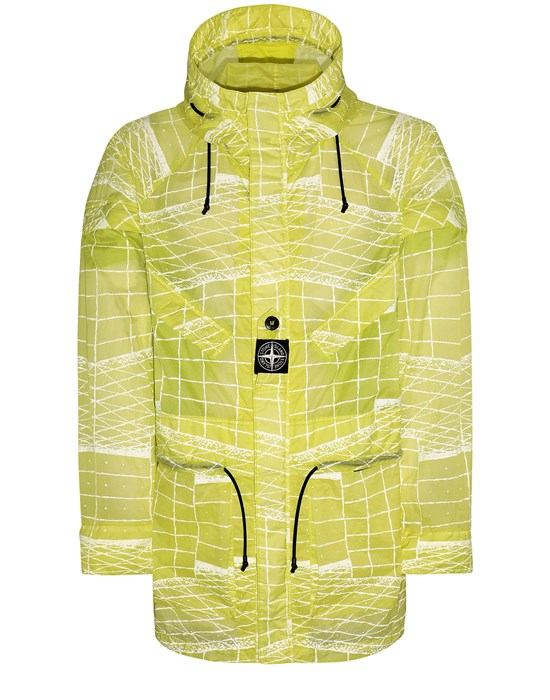 STONE ISLAND 42999 REFLECTIVE GRID ON LAMY-TC  Parka Man Pistachio Green