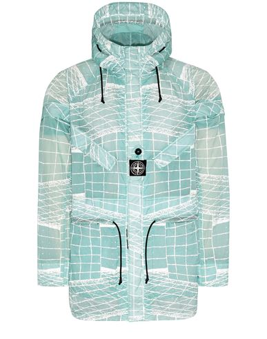 STONE ISLAND 42999 REFLECTIVE GRID ON LAMY-TC  Parka Man Aqua EUR 899