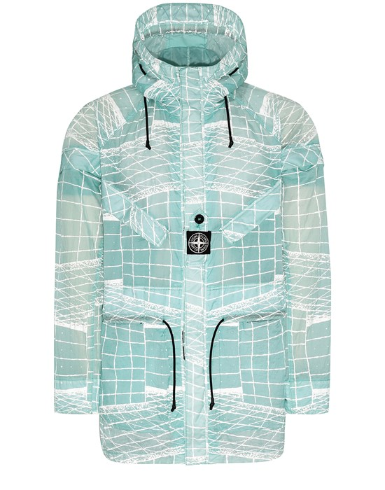 STONE ISLAND 42999 REFLECTIVE GRID ON LAMY-TC  Parka Man Aqua