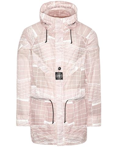 STONE ISLAND 42999 REFLECTIVE GRID ON LAMY-TC  Parka Hombre Rosa antiguo EUR 1200