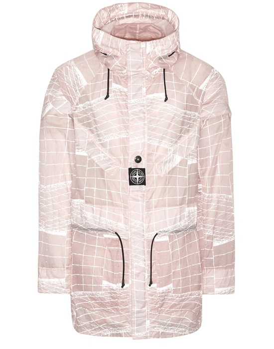 STONE ISLAND 42999 REFLECTIVE GRID ON LAMY-TC  Parka Man Pastel pink