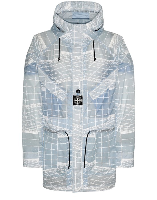 STONE ISLAND 42999 REFLECTIVE GRID ON LAMY-TC  Parka Man Sky Blue