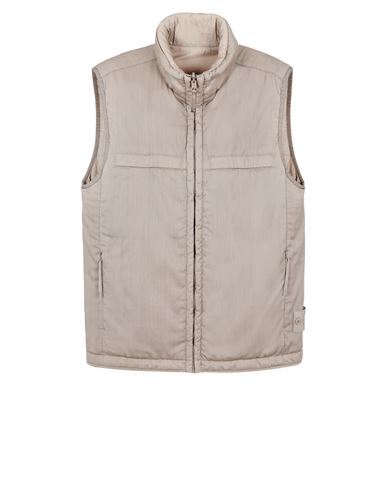 STONE ISLAND G05F1 GHOST PIECE<br>STRETCH WOOL NYLON - REVERSIBLE Vest Man Beige USD 1032