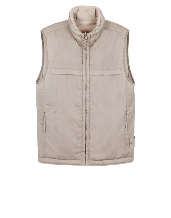 STONE ISLAND G05F1 GHOST PIECE<br>STRETCH WOOL NYLON - REVERSIBLE Vest Man Beige