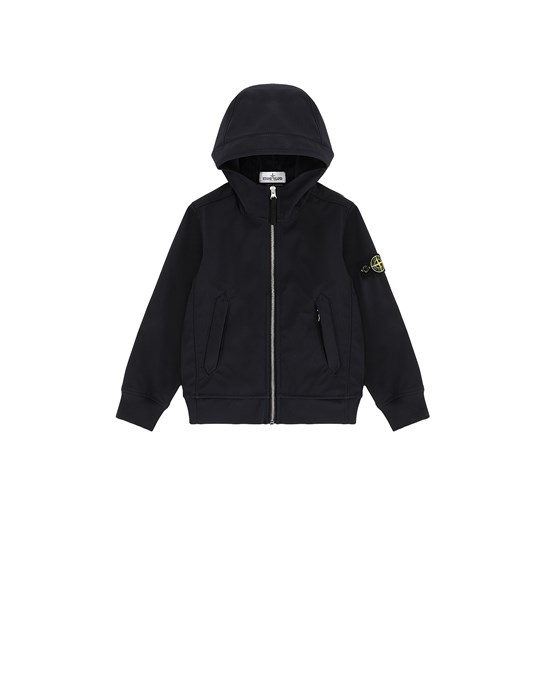 STONE ISLAND JUNIOR 40134 LIGHT SOFT SHELL-R Blouson Homme Bleu