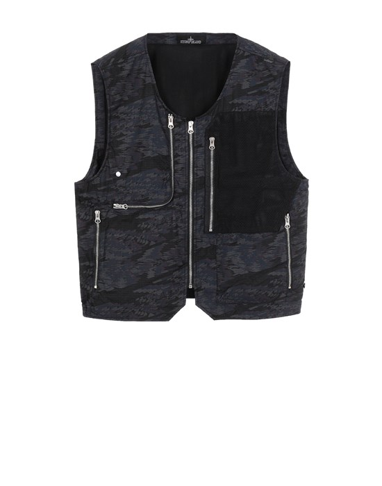 STONE ISLAND SHADOW PROJECT G0103 UTILITY VEST Waistcoat Man Black