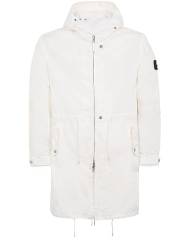 STONE ISLAND SHADOW PROJECT 70102 LONG LIGHT PARKA LONG JACKET Man Natural White EUR 989