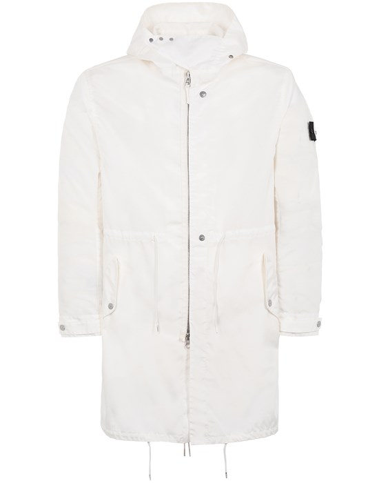 STONE ISLAND SHADOW PROJECT 70102 LONG LIGHT PARKA CAPOSPALLA LUNGO Uomo Bianco Naturale