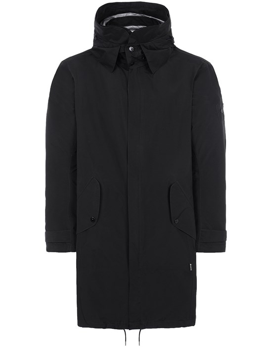 STONE ISLAND SHADOW PROJECT 70401 OVERSIZED FISHTAIL PARKA LONG JACKET Man Black