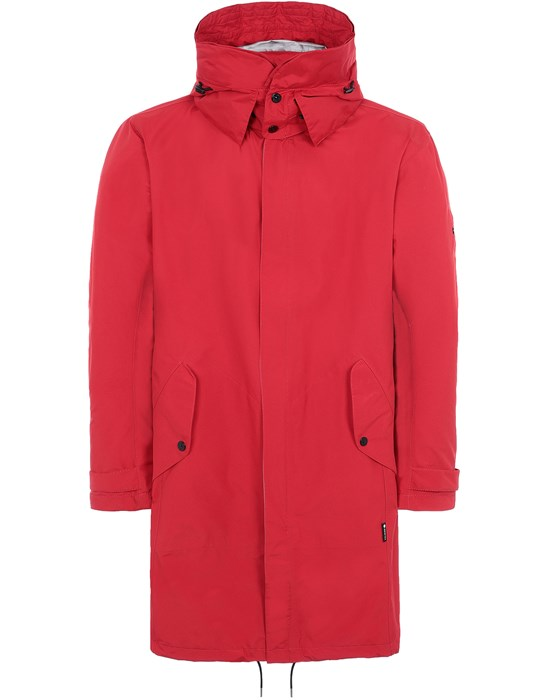 STONE ISLAND SHADOW PROJECT 70401 OVERSIZED FISHTAIL PARKA VESTE LONGUE  Homme Rouge