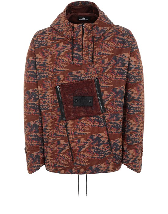 STONE ISLAND SHADOW PROJECT 40103 CONVERT CARGO ANORAK Jacket Man Chestnut Brown