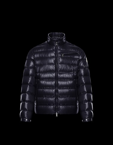AMALTHEA Blue Down Jackets Man