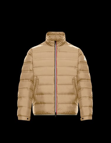 HELFFERICH Beige Down Jackets Man