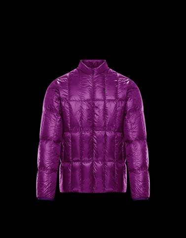 HUNZA Purple Down Jackets Man