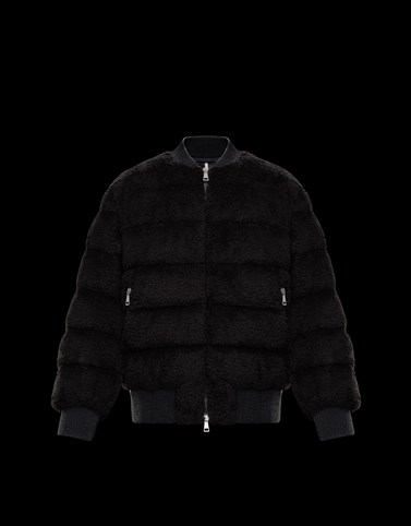 ALGEDI Black Short Down Jackets Woman