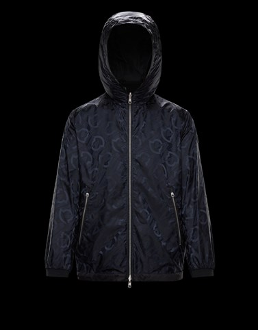 CORDIER Black Windbreakers Man