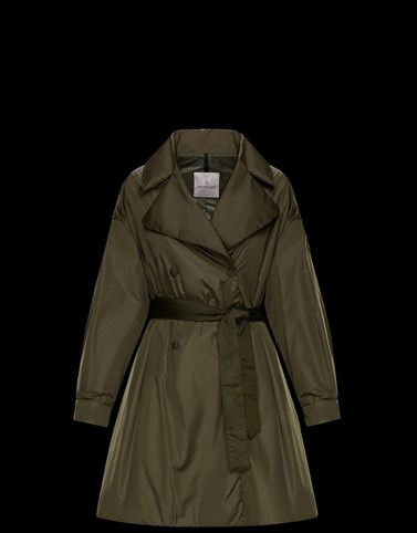 MEBOULA Military green Category Raincoats Woman