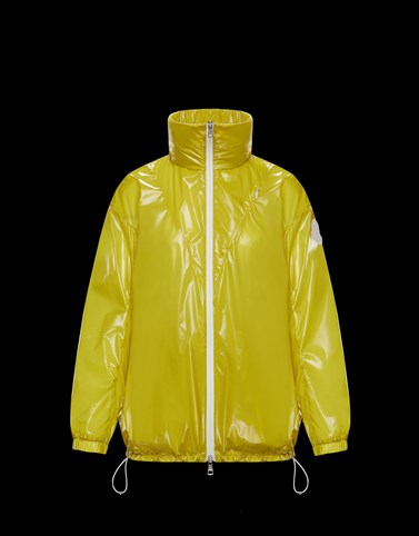 MELUCTA Yellow Windbreakers Woman