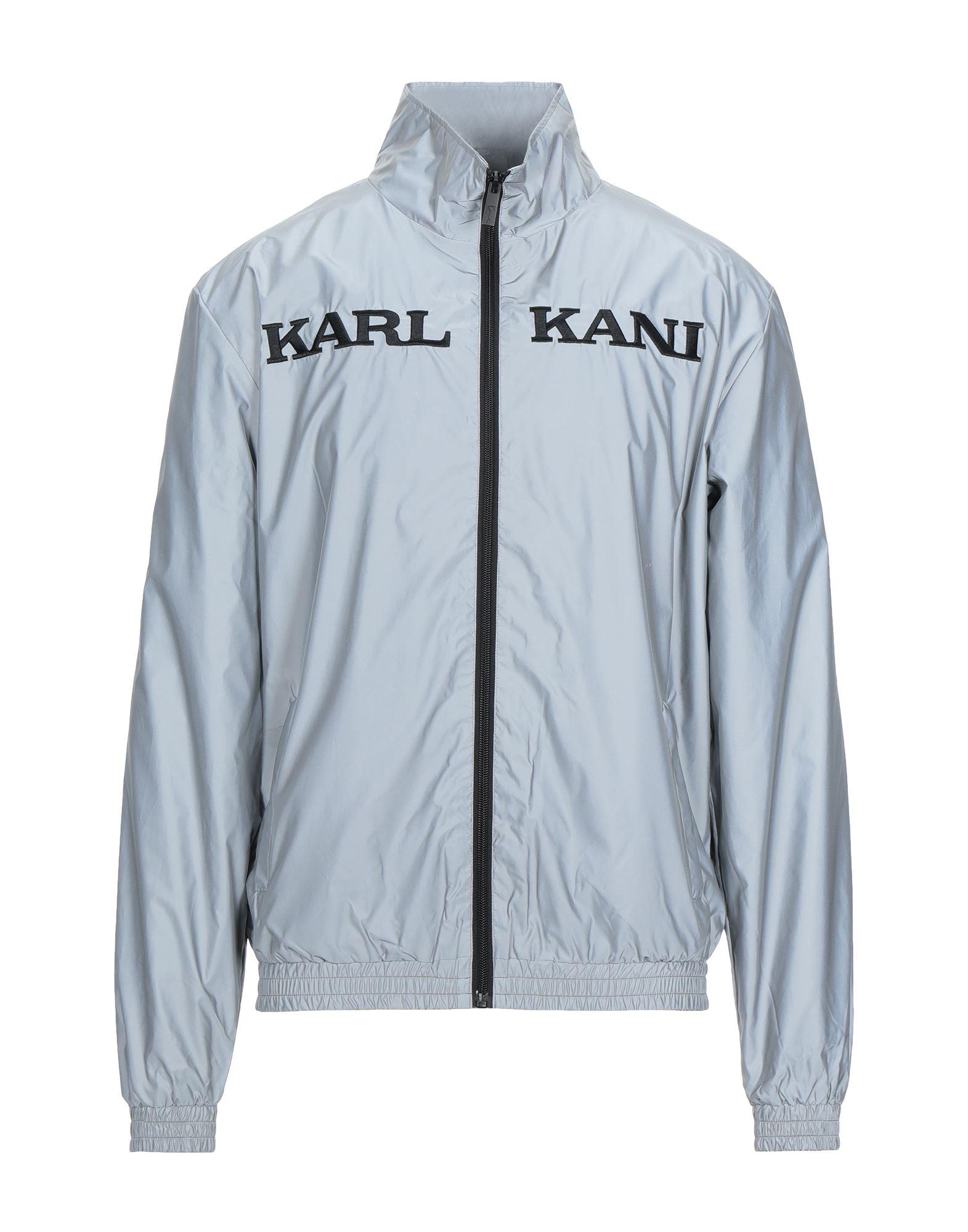 《セール開催中》KARL KANI メンズ ブルゾン ライトグレー XS ポリエステル 100%