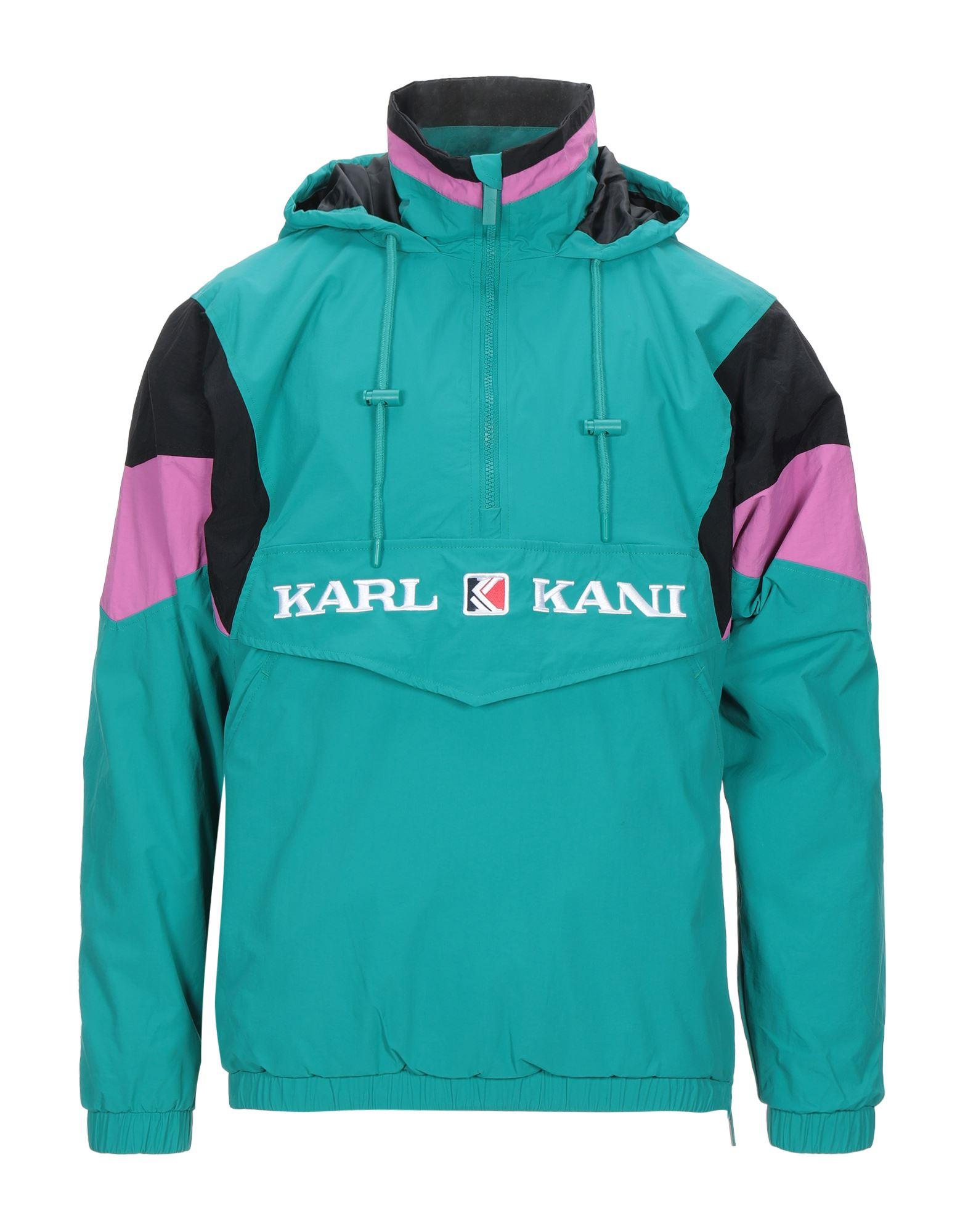 《セール開催中》KARL KANI メンズ ブルゾン ターコイズブルー XS ナイロン 100%