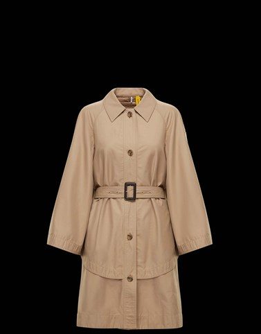 DUNGENESS Beige Coats & Trench Coats Woman