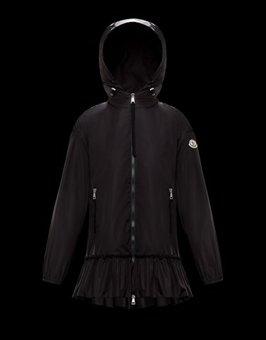 SARCELLE Black Windbreakers Woman