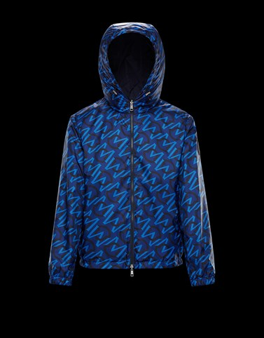 CRETES Blue Category Windbreakers Man