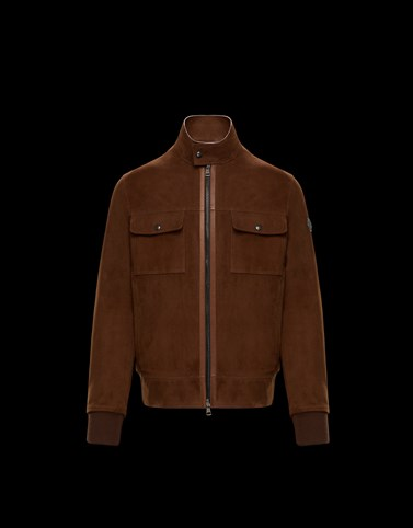 COURRY Brown Jackets & Bomber Jacket Man