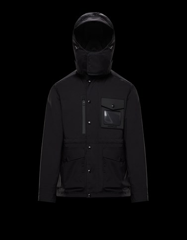 ENGLANTIER Black Category Windbreakers Man